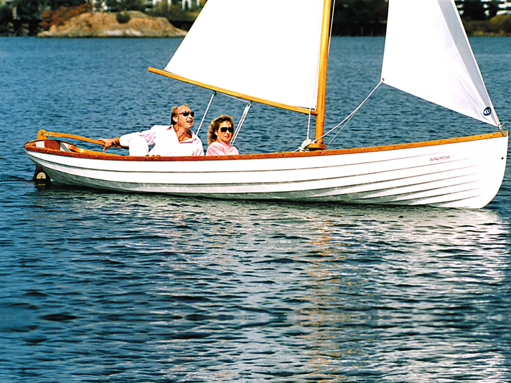 Classic Whitehall Spirit® 17 Sailing Rowboat with Optional Sculling Slide Seats
