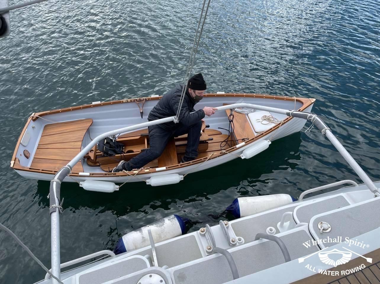Beyond-the-Blue-boat-owner-David-with-Whitehall-Rowing-and-Sail-8L
